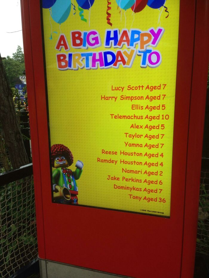 Shoutout To Tony Having His Birthday At Legoland Windsor