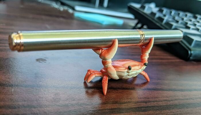 A Little Crab Pen Holder I Found In Tokyo
