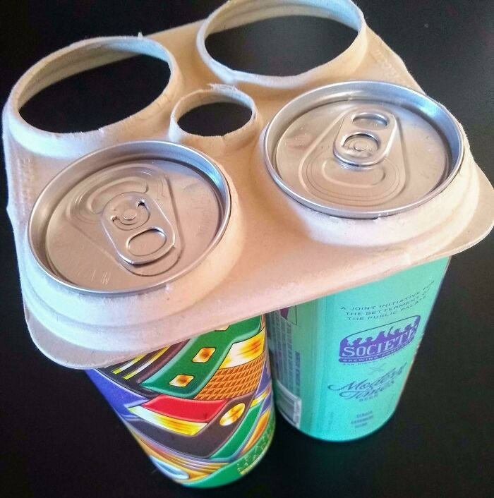 My Beer 4-Pack Came With Paperboard Rings, Instead Of Plastic