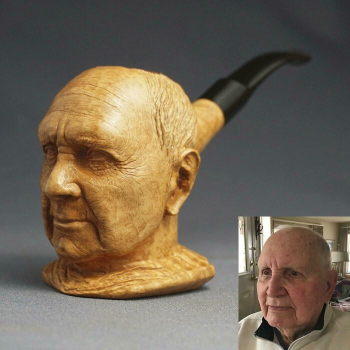 I Carved This Portrait Pipe Out Of Briar Wood