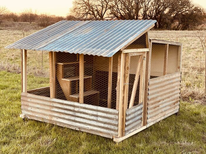 Chicken Coop I Made From All Recycled Materials