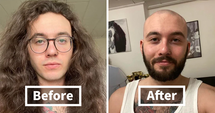 30 Pics Of Kind People Before And After Cutting Their Long Hair To Donate It To Cancer Patients (New Pics)