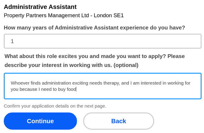 I Cracked This Morning And Submitted This Application - I Am Sick Of These Ridiculous Questions