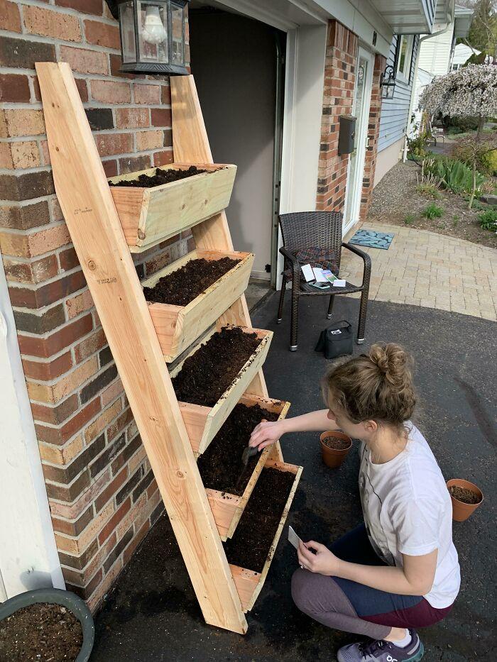 We Made An Herb Ladder From Scratch