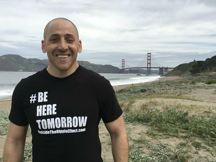Back In 2000, Kevin Hines Jumped Off The Golden Gate Bridge Due To Mental Illnesses. He Miraculously Survived. Now He Is A Suicide Prevention Speaker