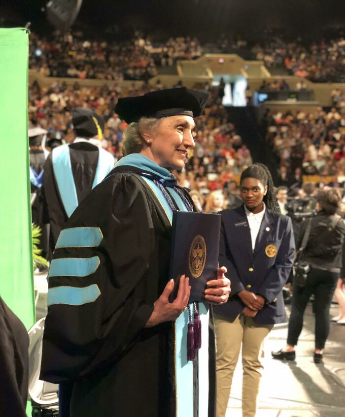 My Grandmother 77 Graduated With Her PhD And Is The University's Oldest Graduate. It's Never Too Late