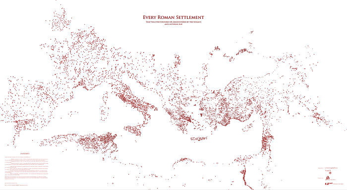 Every Roman Settlement, And Nothing Else