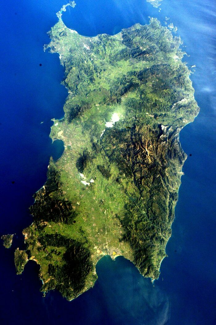 The Island Of Sardinia As Seen From The International Space Station