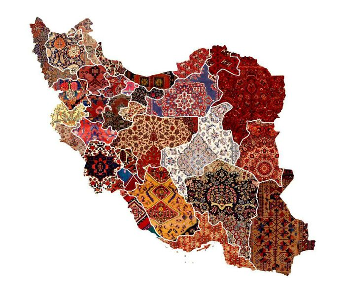 Map Of Regional Rug Patterns Of Iran