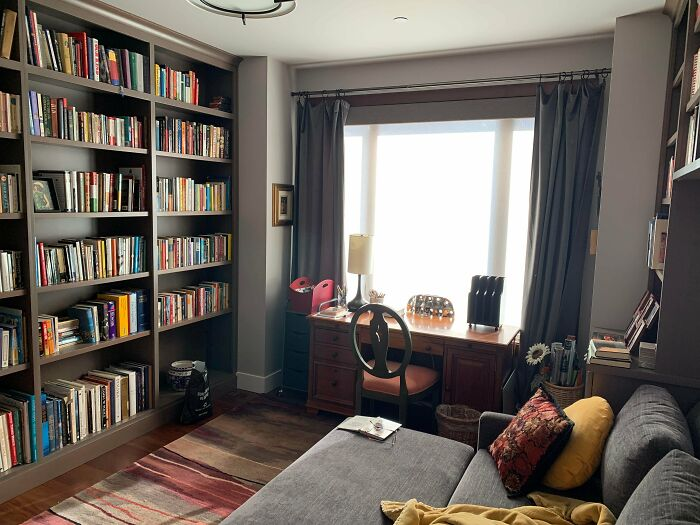 Our Cozy Library Room