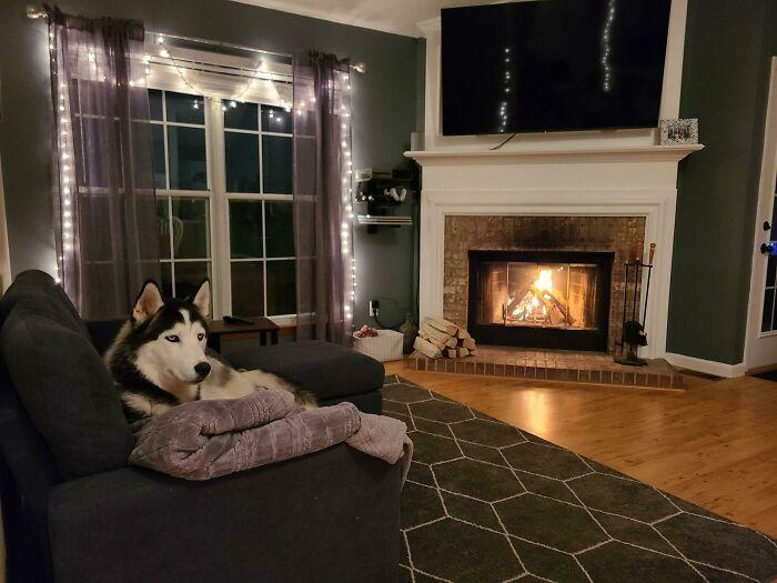 Our Cozy Living Room In Colorado