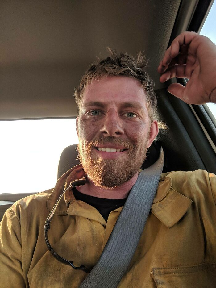 Wildland Firefighter Here. I'll Hold The Line Through Smoke And Fire. And If I Lose Everything, I'll Just Continue To Live In A Tent And Carry A Chainsaw Up Burning Hills