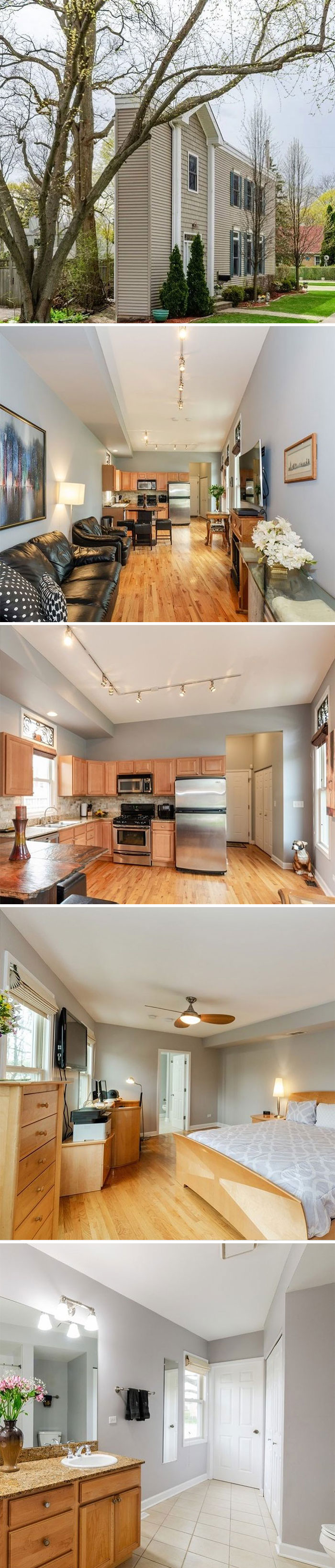 """To Continue Today's Interesting Theme Here's The """"Pie House"""". Was Listed At $269,900. 2 Bd, 2.5 Bath. 1,122 Sf"""