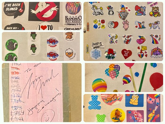 Just A Fraction Of The Over 2,000 Stickers I Collected From About The Ages Of 8-14. Complete With An Autograph From Lisa Frank! (I Clearly Have To Figure Out A Better Way To Store Them, These Old Photo Albums Fall Apart, Alas…) 👍🏽