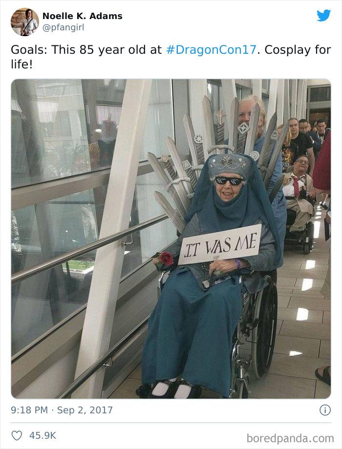 Grandma Cosplayed As Olenna Tyrell