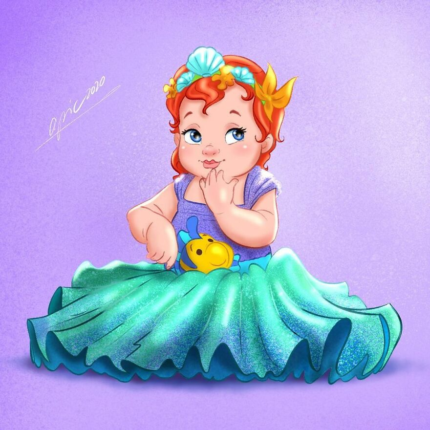 Artist Illustrates Disney Characters As Babies Based Off A Themed Photoshoot