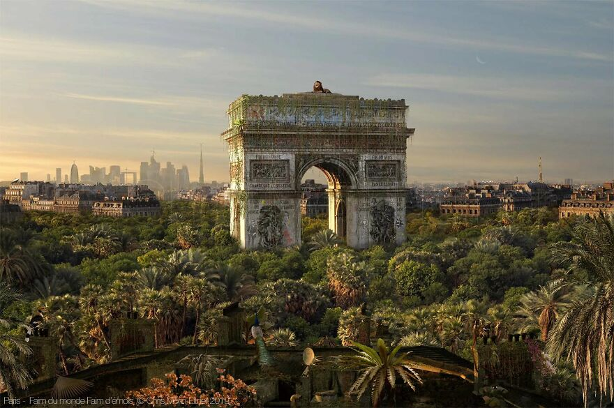 Artist Shows When Famous Cities Meet The End Of Humanity
