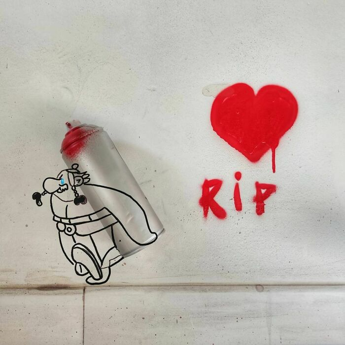 35 Humorous Street Art Pieces Incorporated Into The Streets Of Paris By OakOak (New Pics)