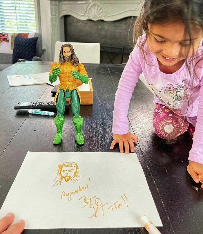 The Rock's 3-Year-Old Daughter Receives A Special Birthday Message From Aquaman Himself