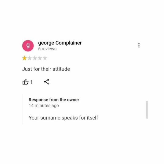 George Complainer