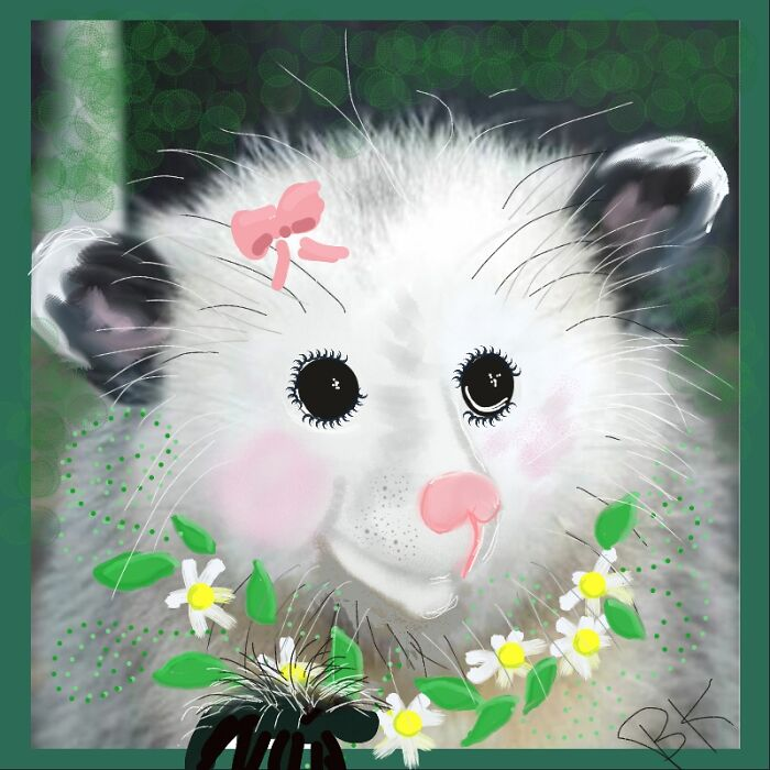 Awesome Possum Flower Power