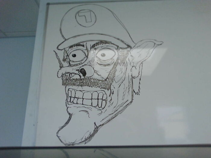 I Have Many Odd Images, But Hyper Realistic Waluigi Takes The Cake.
