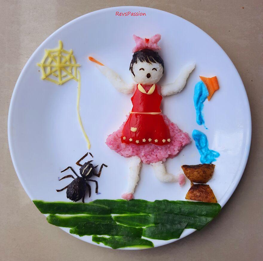 Little Miss Muffet Bento