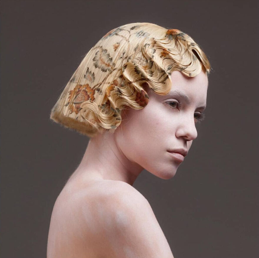 Spanish Hairdresser Develops An Innovative Hair Printing Technique And Creates Delicate Baroque-Inspired Hairstyles