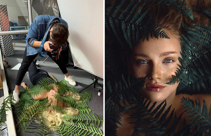 German Photographer Shows The Behind-The-Scenes Of His Stunning Female Portraits And His 687k Followers Love It (20 New Pics)