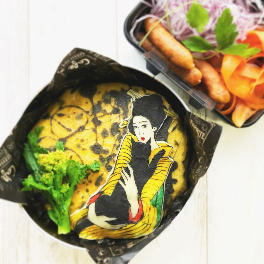 Wife Tirelessly Makes Art Every Day In Her Husband's Lunchboxes