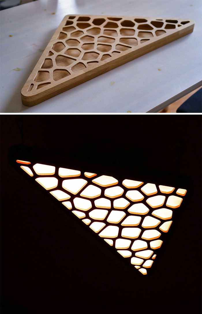 I Built This Ceiling Lamp Out Of Oak