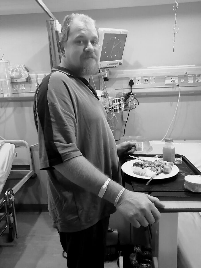 First Time Hubby Had Stood Up For 3 Months. 24 Hours After His Back Op His Paralysis Was Gone.