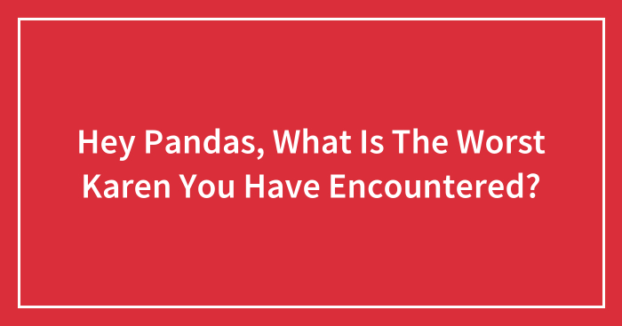 Hey Pandas, What Is The Worst Karen You Have Encountered? (Closed)