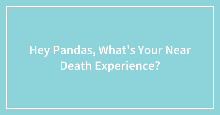Hey Pandas, What's Your Near Death Experience?