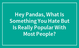 Hey Pandas, What Is Something You Hate But Is Really Popular With Most People?