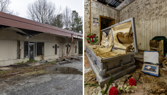 My 9 Photos Of Little Shop Of Horrors Abandoned Funeral Home