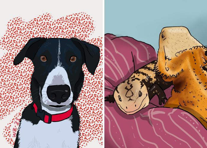 I Make Pet Portraits, Here Are A Few (Adding Pics)