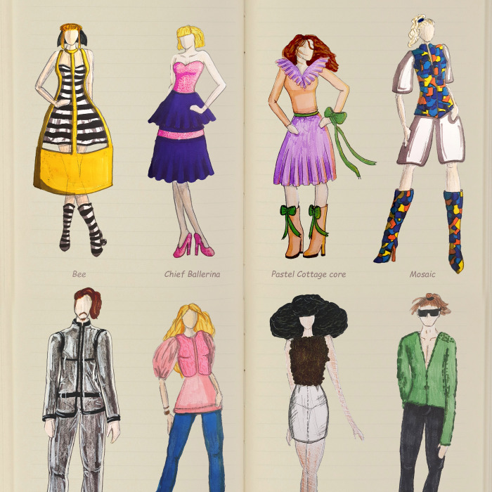 31 Fashion Designs I Made For My Online Fashion Notebook