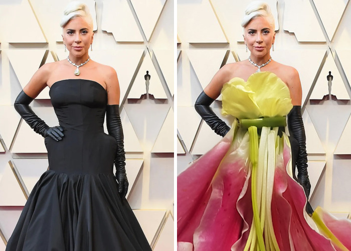 Recreating Celebrity Red Carpet Looks With Flowers