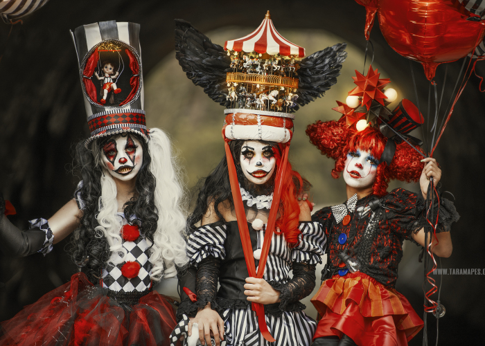 I Photographed A Dark Carnival Themed Photoshoot To Create Couture Clowns In Abandoned Creepy Nature (22 Pics)