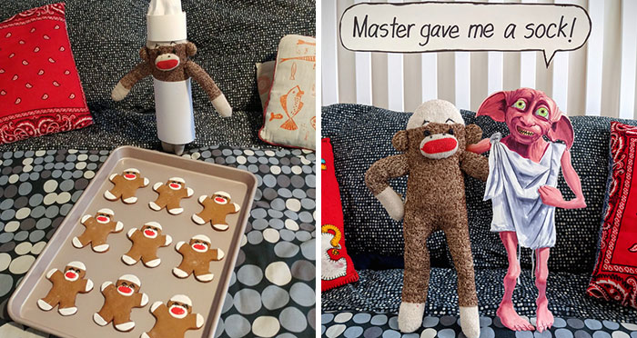 During The Pandemic, I Try To Amuse My Wife With This Sock Monkey, And I Hope It Will Amuse You Too (60 New Pics)
