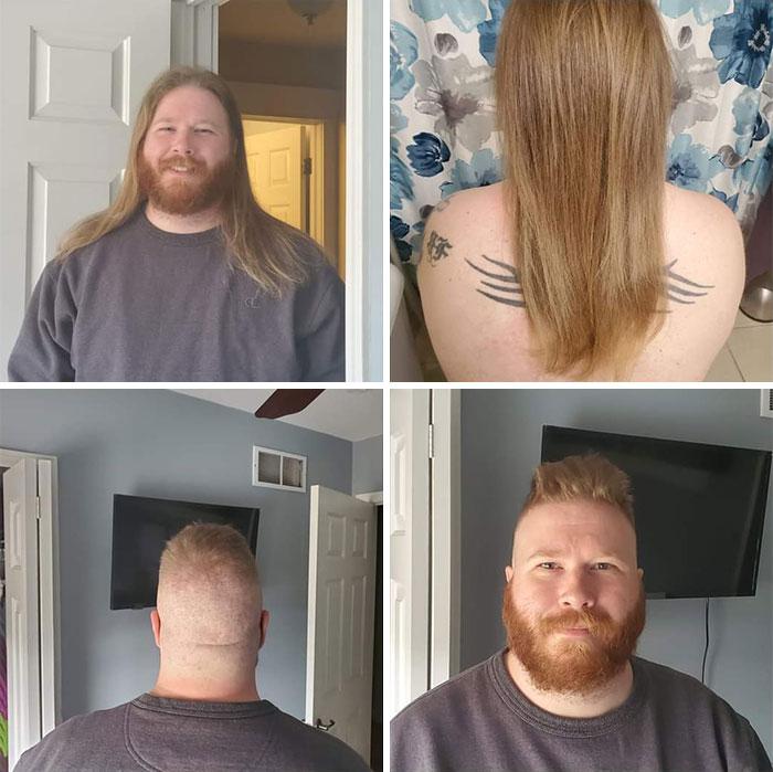 He dejado crecer mi pelo por al menos dos años. Ayer me desperté y decidí, caprichosamente, donarlo por completo a Niños con pérdida de cabello (Children With Hair Loss)
