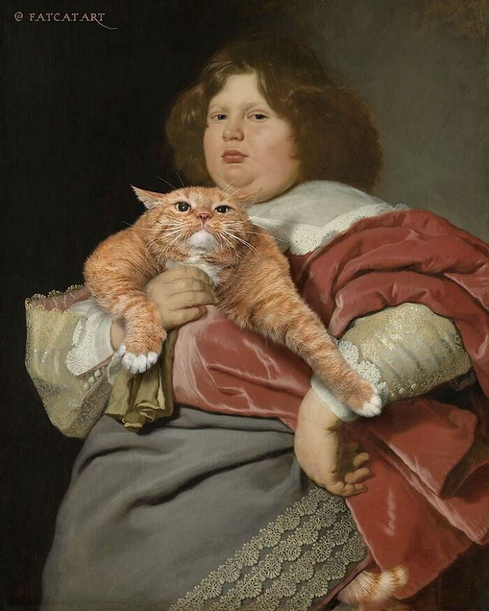 Russian Artist Continues To Insert His Fat Cat Into Old Paintings