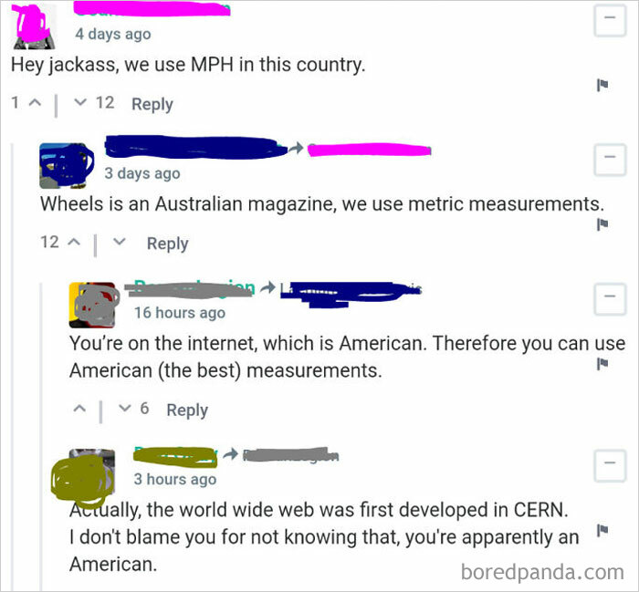 You're On The Internet, Which Is American