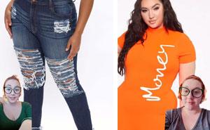 """Esta mujer muestra lo ridículamente fea que es la ropa de """"moda"""" que Fashion Nova promociona para las mujeres de talla grande (19 imágenes)"""