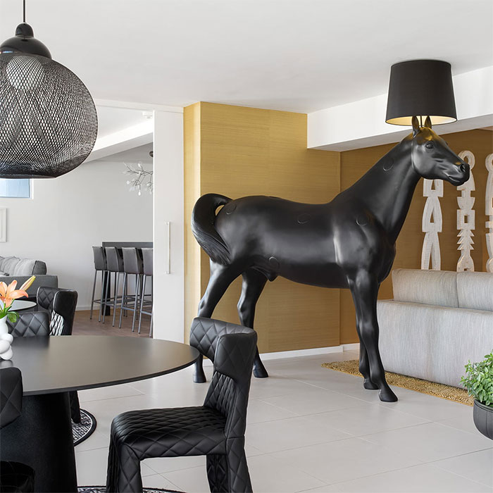I'll See Your Flamingo Lamp, And Raise You A $6500 Life Sized Horse Lamp