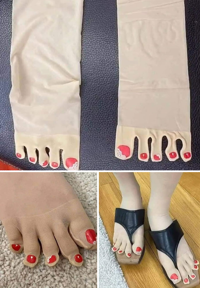 Red Nail Stockings