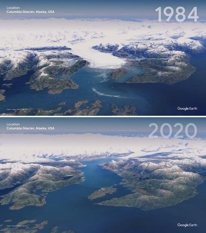 Glaciar Columbia, Alaska, EEUU