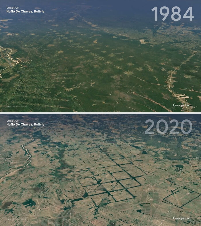 Google Earth Compiles Satellite Images To Show What A Sad Difference People Have Made To The World (16 Pics)