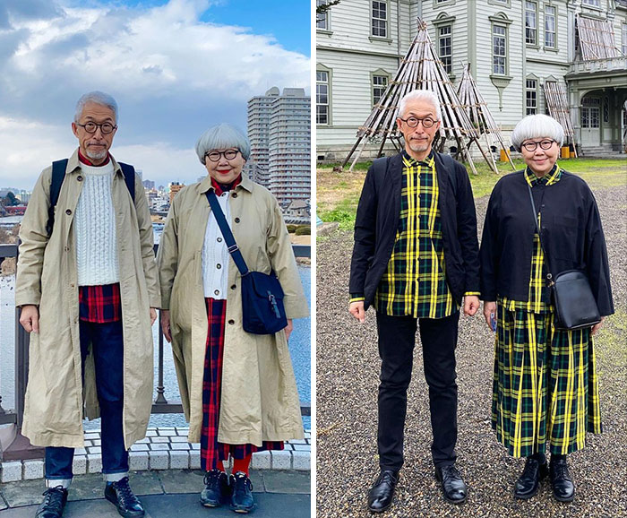 Japanese Married Couple Wears Coordinated Outfits Everyday